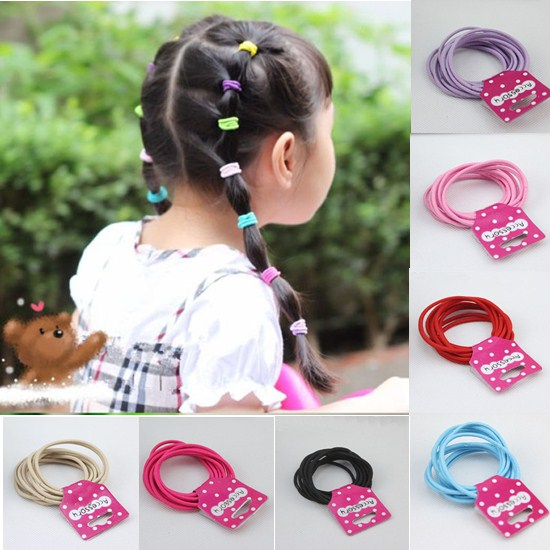 Korean Style Fashion Candy Color Kids Elastic Hair Rope Ponytail Holder Ties Hair Accessories