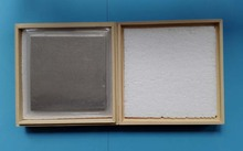 インジウムシートインジウム箔サイズ: 100 ミリメートル * 100 ミリメートル * 0.05 ミリメートルレーザー冷却とシールコーティング材料