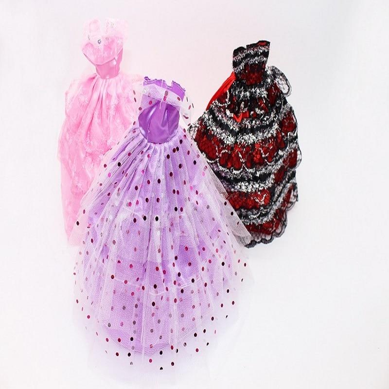 5Pcs Set Doll font b Wedding b font Dress Clothes Princess Evening Dress Gown Clothing Fashion