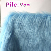Light Blue Solid Shaggy Faux Fur Fabric long Pile fur Costumes Cosplay Backdrops Cloth 60 wide Sold By the yard Free Shipping
