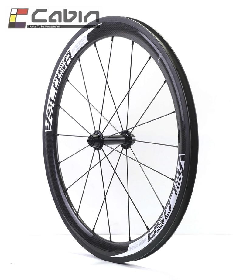 Velosa super sprint 451 carbon wheelset,38mm clincher 20 inch bike carbon wheel