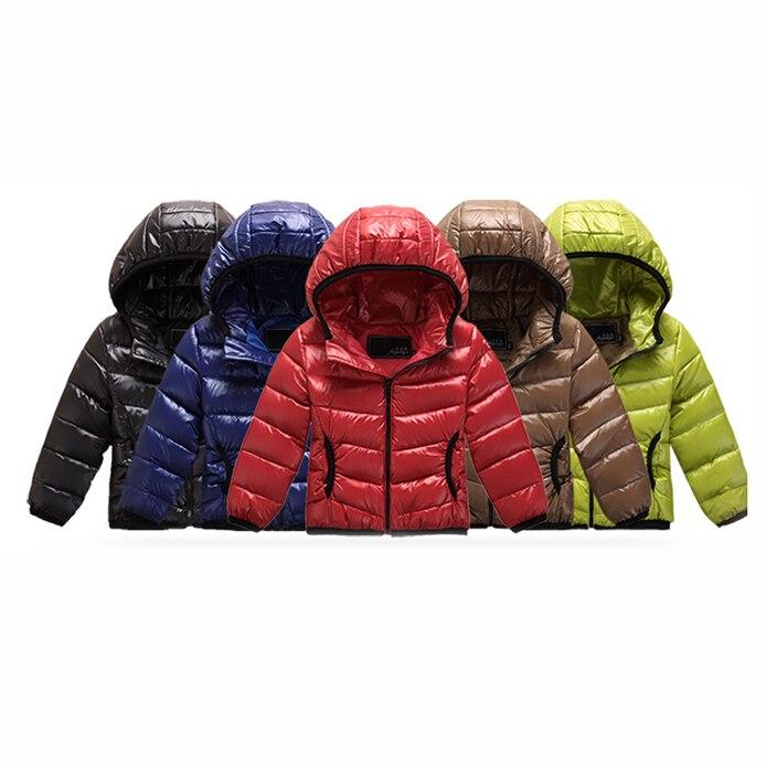 2016 Hooded Down Jackets For Boys Girl Children's Parka Brand Sports Outdoor Kids Coat Winter Jacket Baby Girls Down Coat