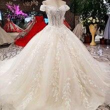 AIJINGYU Pleats Size 18 Ready Cap USA Gowns Wedding Dresses