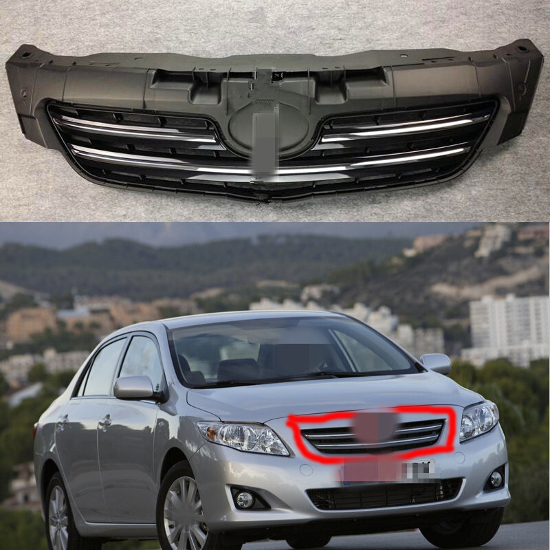 1Pcs Replacement Front Bumper Upper Radiator Hood Grill Grille for Toyota Corolla 2007-2009 цена