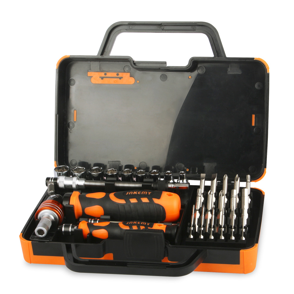 31 in 1 Multifunction Hand Tool Sets Electronics Repair Tools Set Kit Multi Bits Ratchet Screwdriver Set for LaptopTablet Repair
