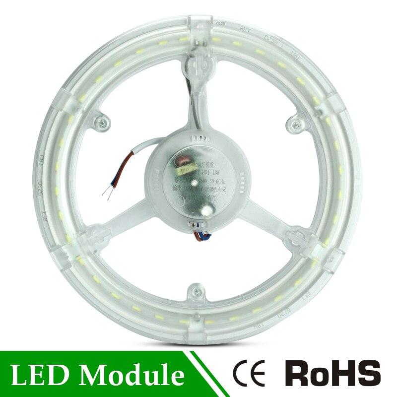 AC 220 V Modul Glühbirne 12 Watt 16 Watt 24 Watt Led SMD 5730 Rohr Retrofit Magnet Platine CFL Ersetzen Led Ring Beleuchtung Led-deckenleuchte