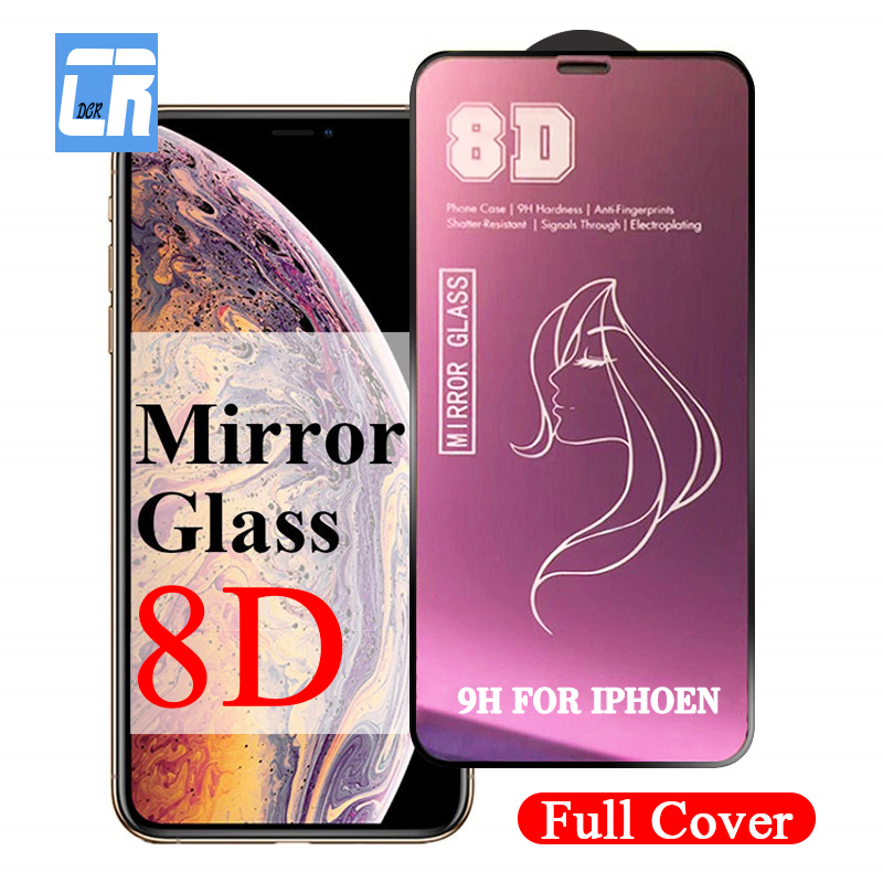 8D Luxury Mirror Protective Glass On The For IPhone 7 8 6 6S Plus Screen Protector For IPhone X XS Max XR Tempered Glass Film