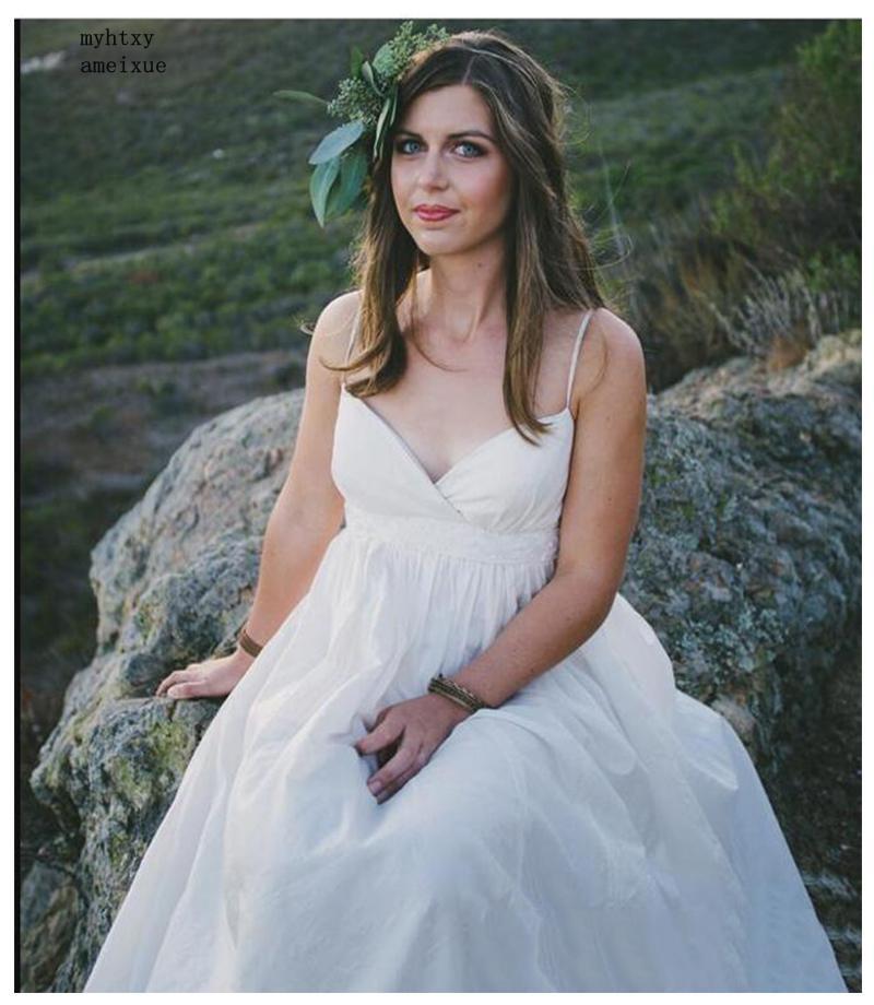 2019 Cheap Wedding Dress Beach White/lvory Cheap Dresses Plus Size Sweetheart A-line Hot Sale Bridal Gown Vestido De Novia Playa