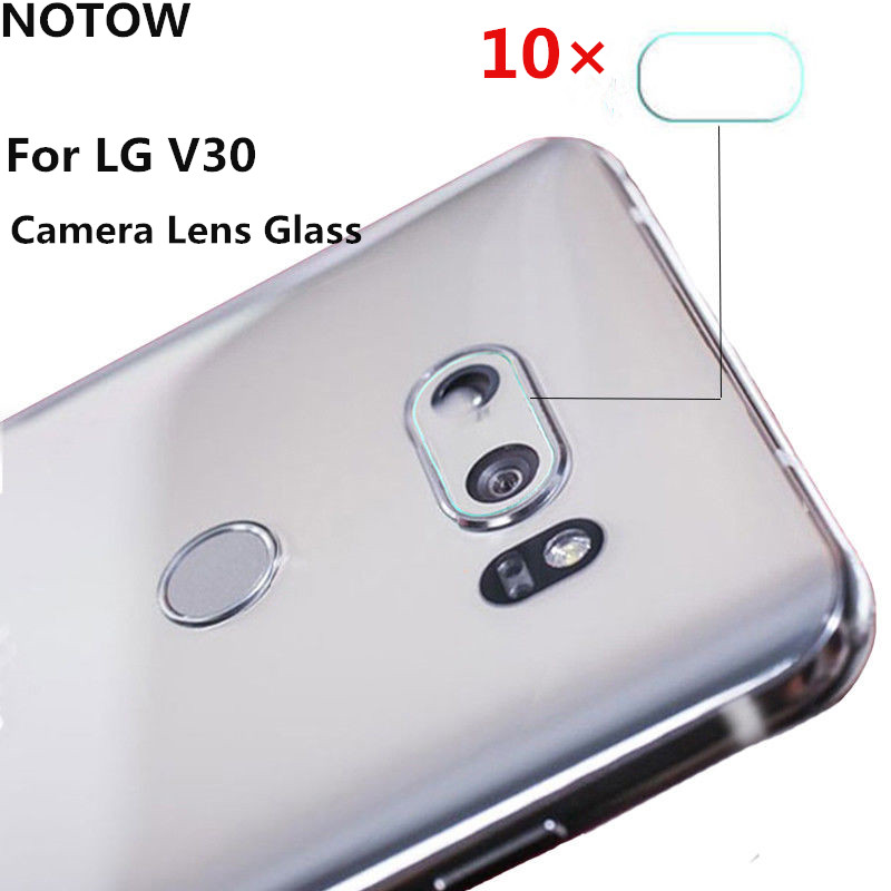 NOTOW 10Pcs/lot 7.5H Hard flexible Rear Transparent Camera Lens Tempered Glass Film Protector Cover For LG V30 For LG V30Plus