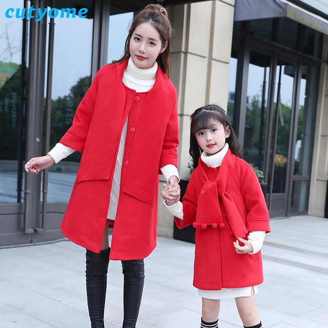 c0652a860 Cutyome 2017 Christmas Family Matching Outfits Long Solid Mother and ...