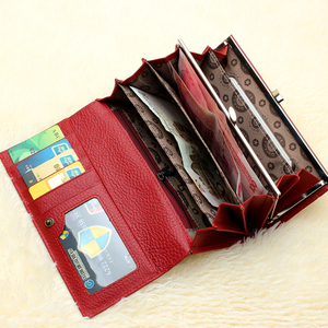 Image 3 - Qianxilu ブランド本革財布、高品質コイン財布女性 2017
