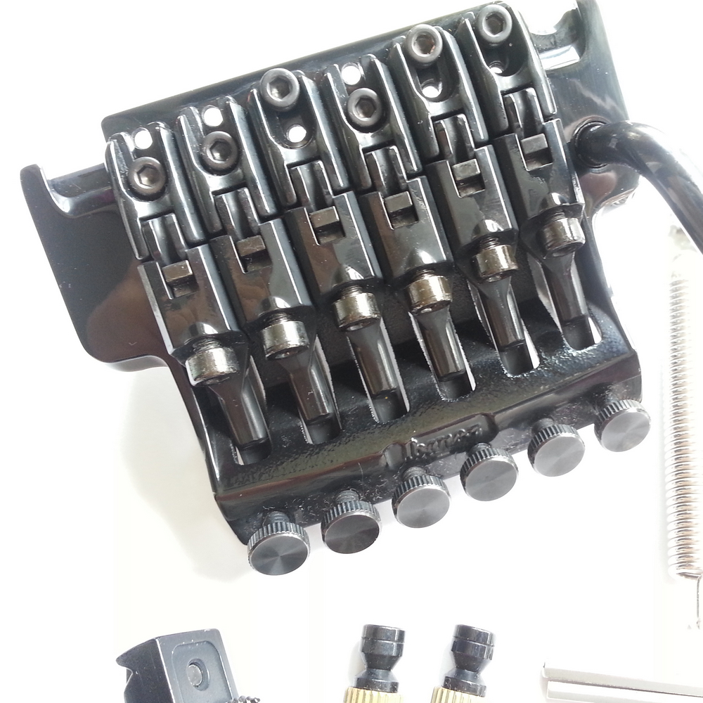 1 set Original véritable Edge III pont guitare électrique verrouillage trémolo système pont pour IBZ noir - 3