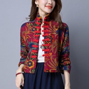 Tradycyjna chińska odzież dla kobiet top cheongsam stójka damskie topy i bluzki orientalna odzież chińska tanie i dobre opinie COTTON Pościel WOMEN