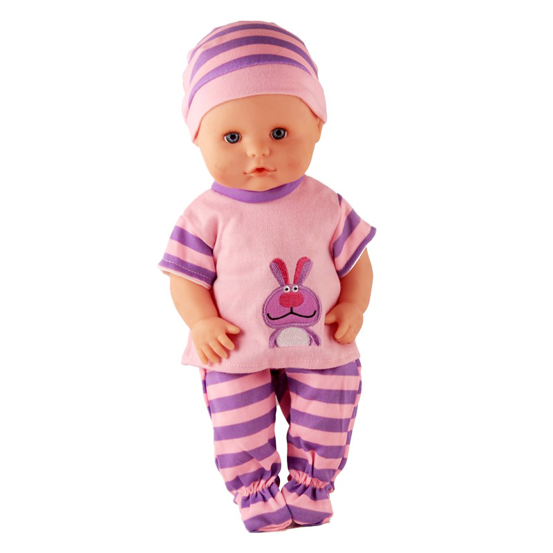 Doll Clothes Fit 35cm Doll Nenuco Y Su Herman 13inch Doll Accessories Purple Stripes Casual Outfits With Hat For Nenuco Doll