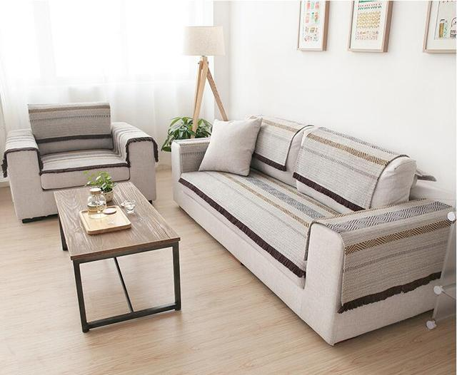 90cm Cotton Sofa Towel Sectional Sofa Cover Slip Resistant Single Seat  Double Seat Three