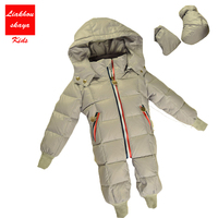 2017 Newborn Baby Boy Winter Jumpsuit Hooded Clothes Girls Outdoor Rompers Suits Clothing Baby Windproof Overalls