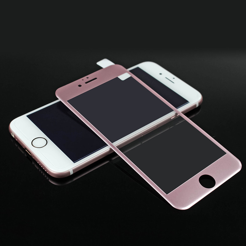 3D Curved Tempered Glass For IPhone 7 8 6 6s Plus Rose Full Cover Screen Protector For IPhone 6 6s 7 8Plus Protective Glass Film