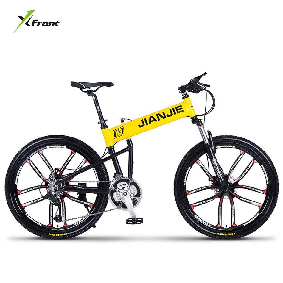 New Brand Mountain Bike Aluminum Alloy Frame 26 Inch Wheel 24/27/30 Speed Downhill Folding Bicycle Dual Disc Brake Bicicleta