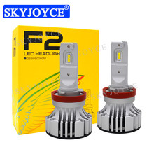 SKYJOYCE 2018 New F2 Car LED Headlight Bulb 12V 24V 36W 6000LM H1 H4 H7 H11 9005 9006 LED Headlight Fog Lamp 6500K Car Styling(China)