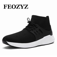 FEOZYZ Brand 2017 New Running Shoes High Top Breathable Comfortable Sport Shoes Men Sneakers Zapatillas Deportivas