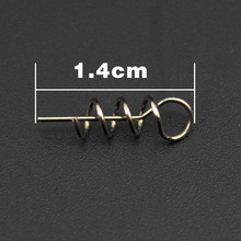 50pcs/lot Soft Bait Spring Lock Pin Crank Hook & Soft Bait Connect Fixed Pin Latch Pin Fishing Tackle YE-368