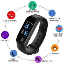 Умные часы с Bluetooth, цветной сенсорный экран для мужчин и женщин, детский браслет, спортивный браслет для huawei Xiaomi band Ios M3