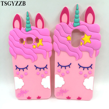 Pink Horse Unicorn Case For Samsung Galaxy J3 J7 J530 2017 2016 J5 Prime J2 Pro 2018 A5 A8 J1 Ace S7 edge S8 Plus S9 Phone Cover