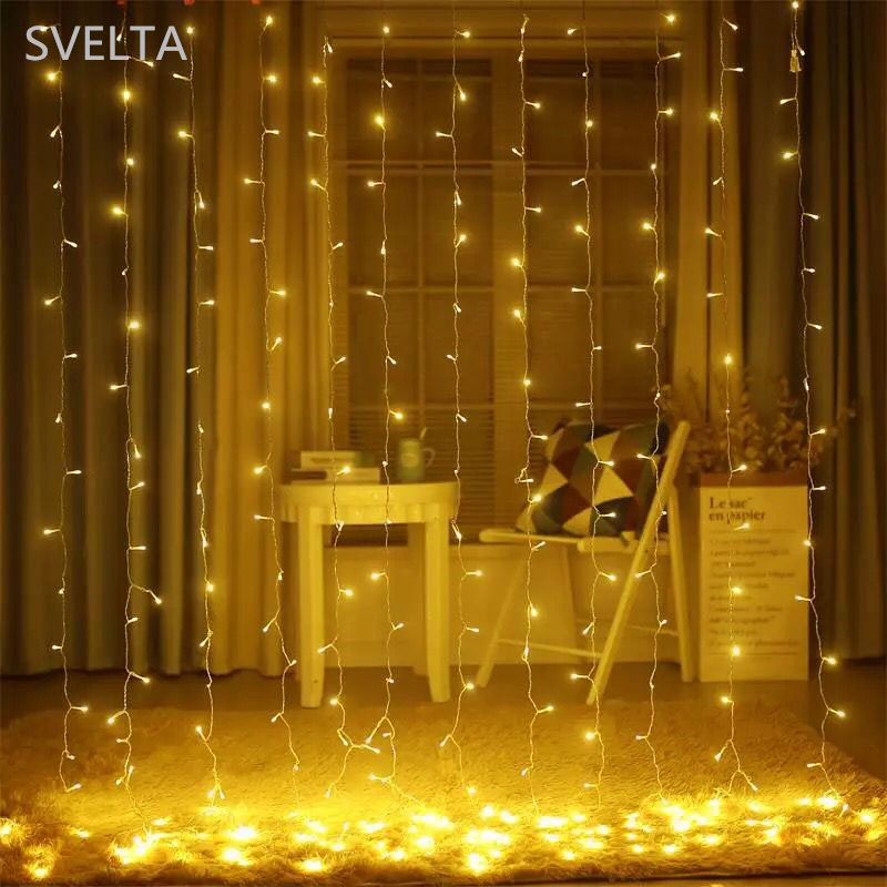 SVELTA 6x3m 600 Bulbs LED Icicle String Fairy Light Outdoor Christmas - Holiday Lighting