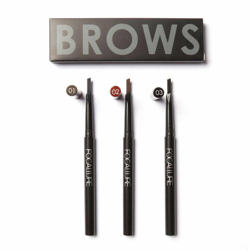 Facallure Doppia 1 Pz Rotativo Impermeabile Eyeliner Sopracciglia Eye Brow Pencil Trucco Penna Cosmetica