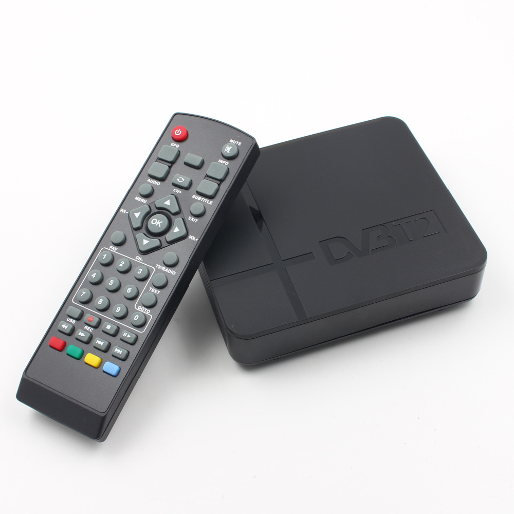 Receptor de señal de TV totalmente para DVB-T Digital terrestre DVB T2 H.264 DVB T2 temporizador no soporta Dolby AC3 PVR envío de la gota