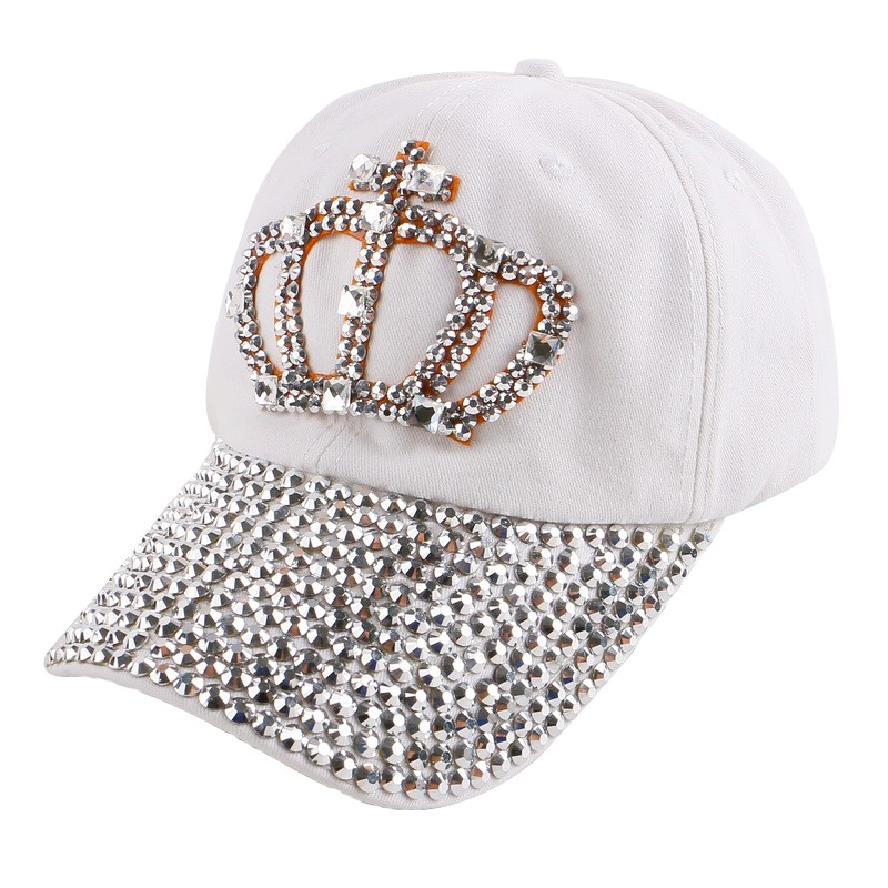 new design denim woman baseball cap rhinestone Crown shaped women girl men outdoor beautiful snapback hat  outdoor casquette