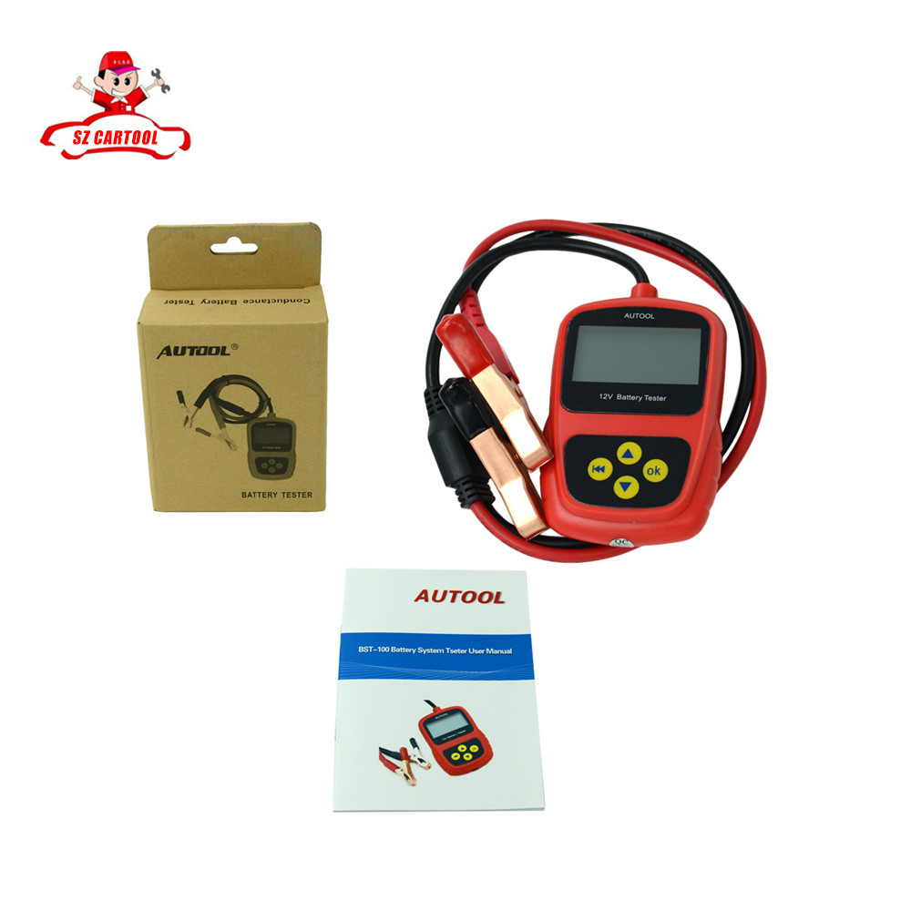 ФОТО 2016 Super Oringinal AUTOOL BST-100 BST100 Battery Tester with Portable Design Directly Detect Bad Cell Battery Free Shipping