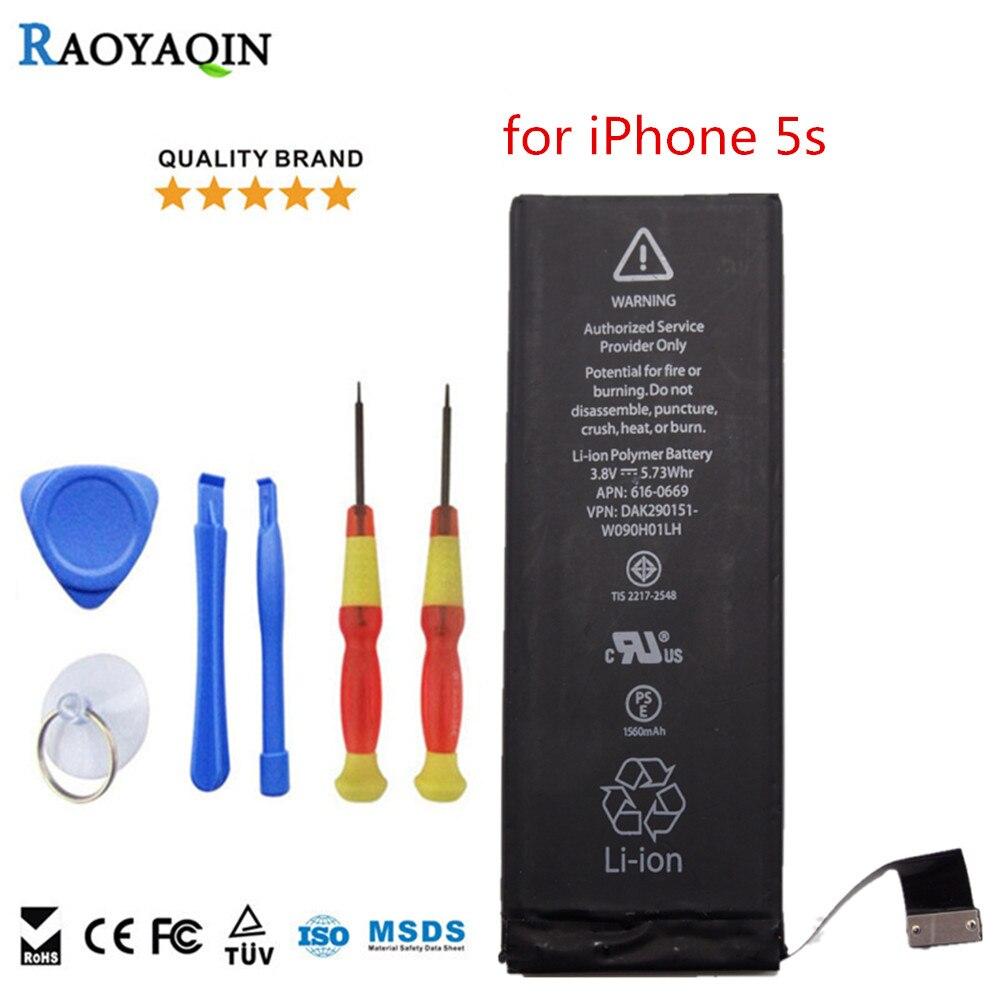 Ersatz Handy-akkus für iPhone serie für iPhone 5 s 100% ursprüngliche marke Echte Kapazität 1560 mAh qualitätsbatterie