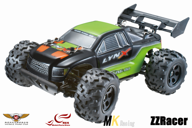 MK 1/24 Mini Electric  Monster Truck High Speed Raise Head 2.4G Remote Control Model Free shipping head speed 25 gr07 234856