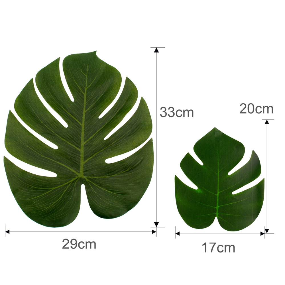 QIFU Artificial Leaf Tropical Palm Leaves Hawaiian Party Palm Tree Brown Leaves Artificial Decor For Wedding Party Supplies in Artificial Dried Flowers from Home Garden