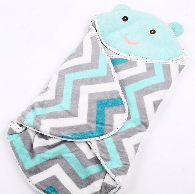 Coral Velvet Cartoon Bag Autumn and Winter Newborn Envelope Sleeping Bag Cotton Cute Baby Anti-kick LD1124054