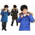 Muchachos del Invierno Abajo Chaqueta Caliente prendas de Vestir Exteriores Ocasional de la Chaqueta del Invierno para Abrigos Boy 2016 Niños 90% de Pato Abajo Niños de Esquí escudo