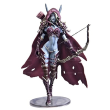14.5cm WOW Sylvanas Windrunner Archery queen PVC Action Figure Model With Base Box Collection Boy Toy Birthday Gifts cataclysm lady sylvanas windrunner action figure pvc collection model toys