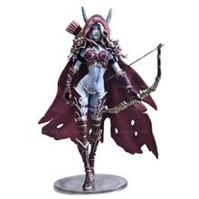 купить 14.5cm WOW Sylvanas Windrunner Archery queen PVC Action Figure Model With Base Box Collection Boy Toy Birthday Gifts недорого