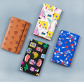 Women Wallet, Vintage Cartoon Printed Creative Wallet PU Leather Clutch Purse Card Coin Lady Bag Gift LL1494