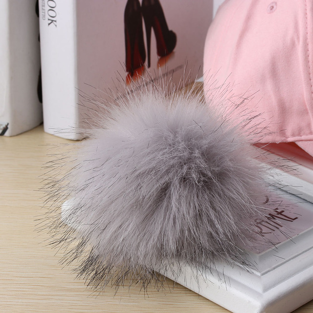 c8e2e86a6a6 Hot Unisex Faux Raccoon Fake Fur Hair Ball Fluffy Pompom Hat Women Men  Clothing Bag Shoes Cap Accessories Hanging Decor Gift