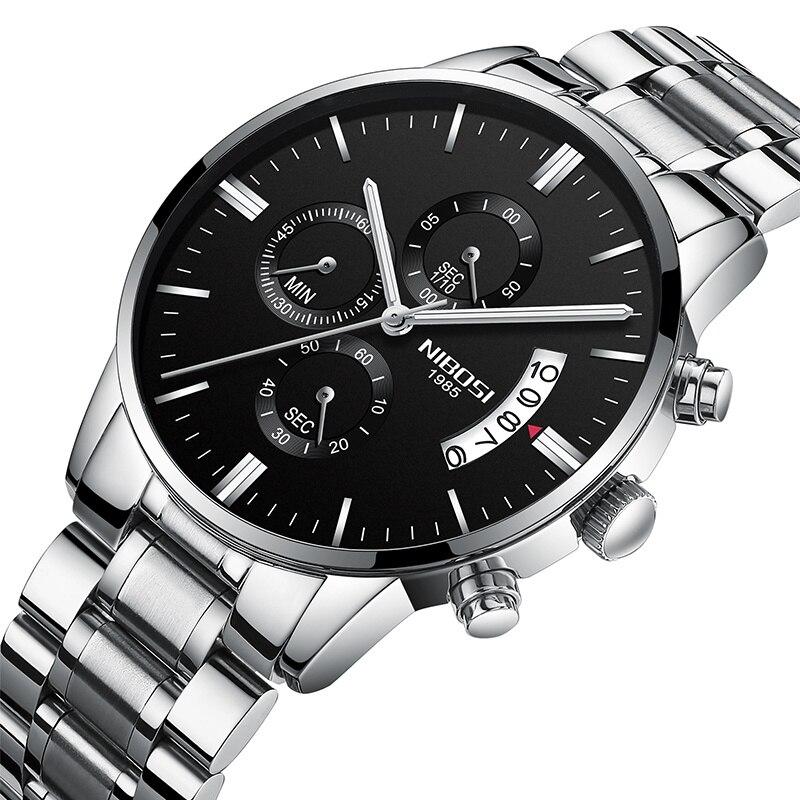 NIBOSI Männer Uhren Luxus Marke Chronograph Quarz Business Uhr Männlichen Uhr Dropshipping Großhandel relogio masculino