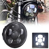 5.75 inch Motorcycle LED Headlamp 5 3/4 inch 883 For Harley Davison Iron 883 Dyna Street Bob FXDB Sportsters Headlight Kit