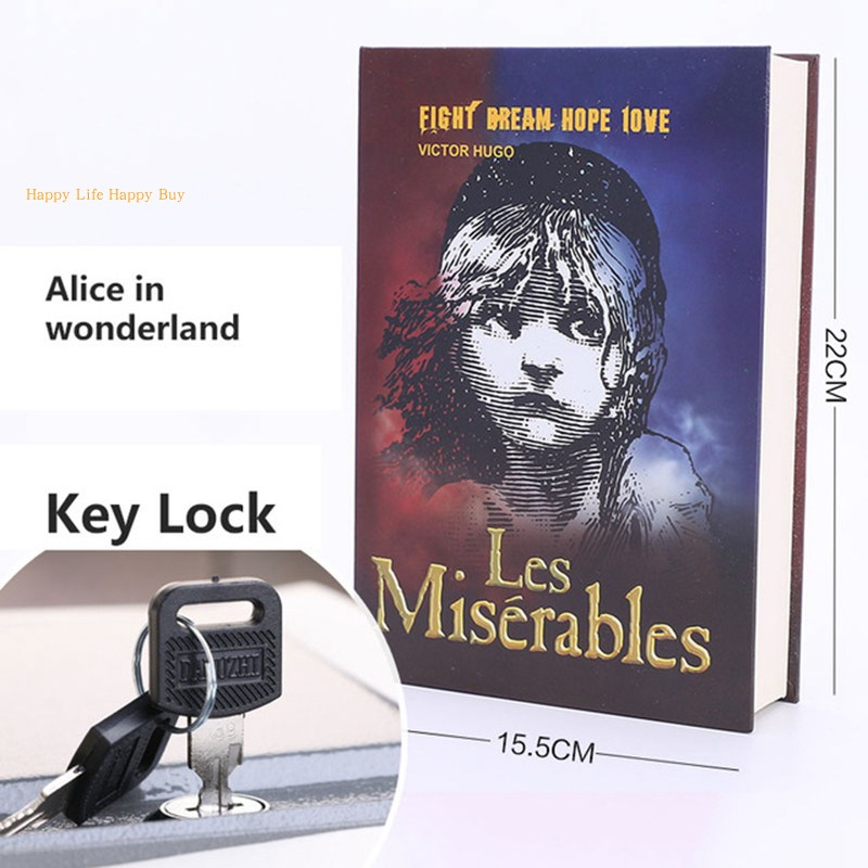 Movie Poster Secret Book Piggy Bank Money Hidden Secret Security Safe Lock Cash Money Jewellery Locker Box With Key Lock