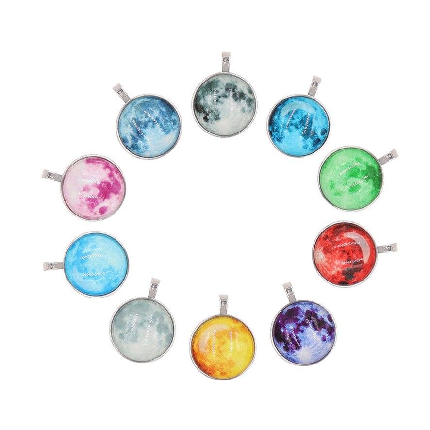 2018 choker necklaces fashion necklaces Luminous Stars Lunar Eclipse Convex Glass Ball Necklace Pendant Birthday