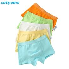 2pcs/Lot Cotton Briefs For Boys Kid Underwear Cutyome Teenage Pure Color Shorts Panties Boxer Puberty Children Thongs Underpants
