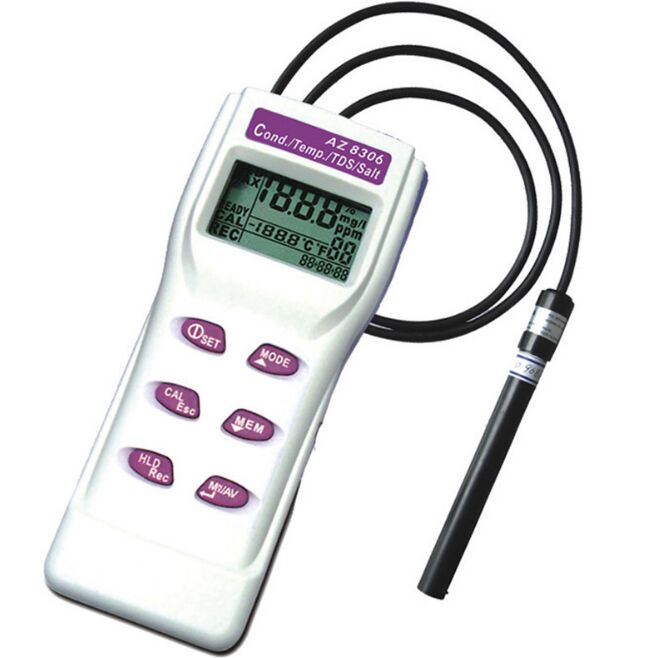 AZ8306 portable conductivity meter water test pen COND / TDS detector / salinity meter