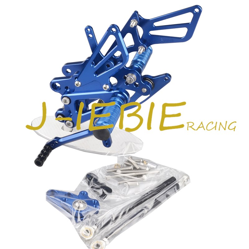 CNC Racing Rearset Adjustable Rear Sets Foot pegs Fit For Honda CBR600RR CBR600 RR F5 2007-2016 BLUE titanium cnc aluminum racing adjustable rearset foot pegs rear sets for yamaha mt 07 fz 07 mt07 fz07 2013 2014 2015 2016