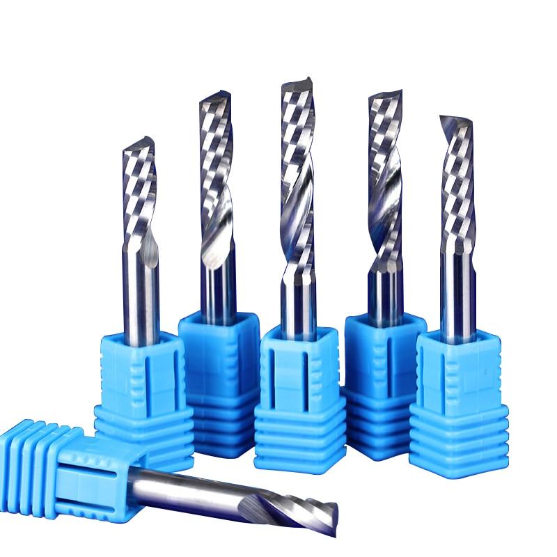 10pcs 3.175X2X8mm Double Two Flute Straight Slot CNC Router Bits Wood MDF