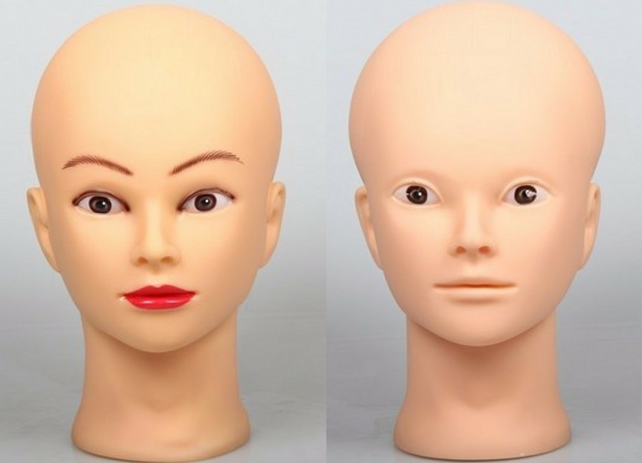"Hair Styling Mannequin Head: 20"" 2Pcs Cosmetology Mannequin Heads Hairdressing Doll"